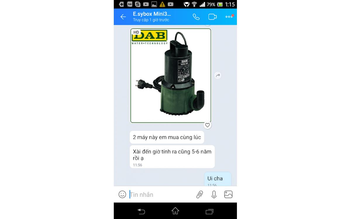 Review của người dùng máy bơm nước thương hiệu DAB