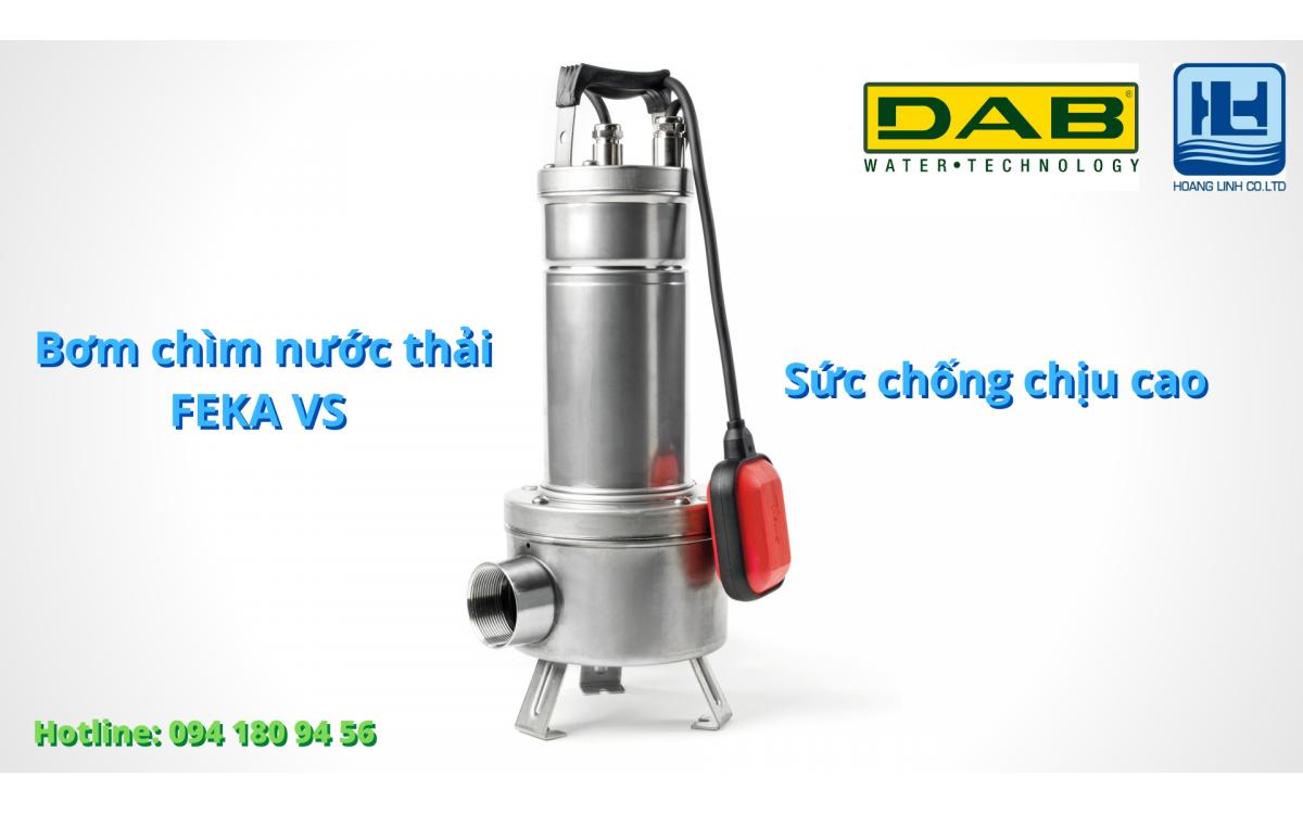 Bơm FEKA VS - dòng bơm chìm chuyên dùng cho nước thải và nước mưa