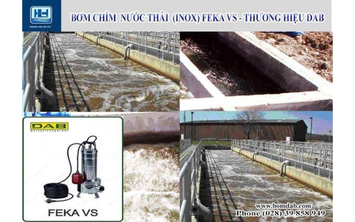 Máy bơm hút cặn bụn sạch với bơm chìm FEKA VS