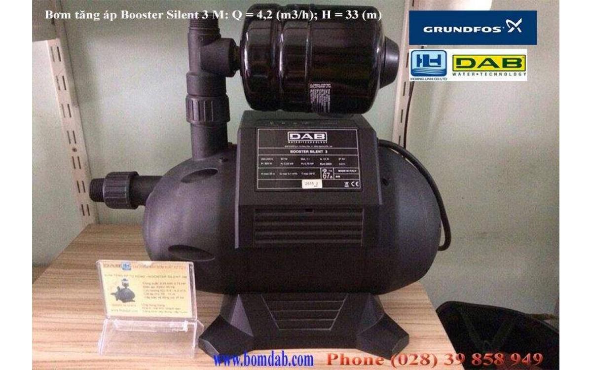 Máy bơm tăng áp điện tử Booster cảm biến áp lực êm nhất thế giới