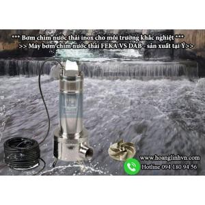 Thông số hoạt động - Dòng Bơm chìm nước thải FEKA VS-  BƠM  INOX .