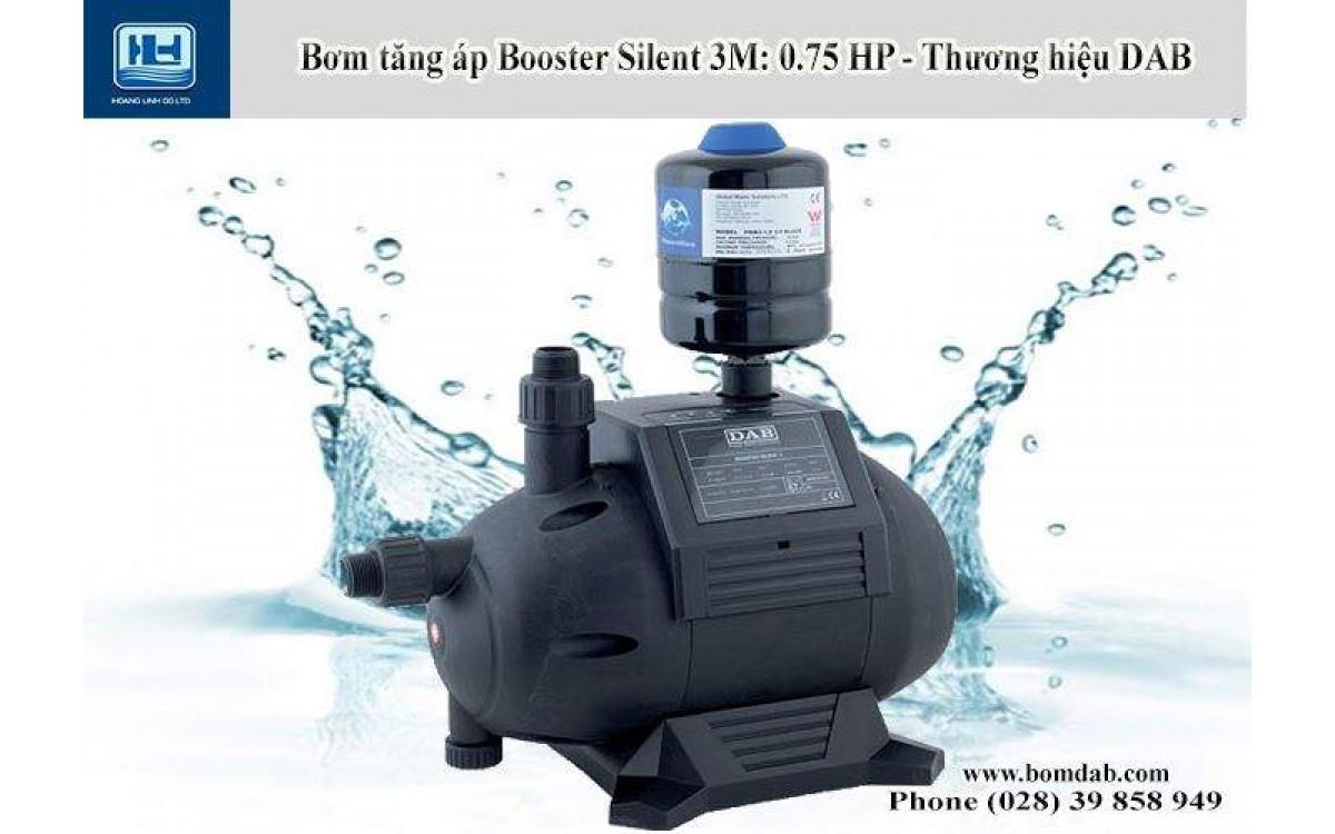 Máy bơm tăng áp Booster Silent tự động chạy và dừng bằng mạch điện tử