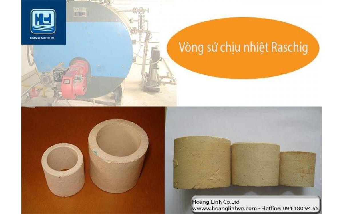 Vật liệu đệm xử lý khí thải, nước thải với vòng sứ Raschig