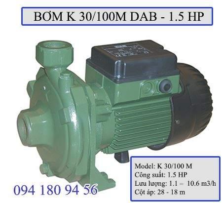 Máy bơm ly tâm K 30/100M công suất 1.5 HP cho mọi công trình lớn nhỏ