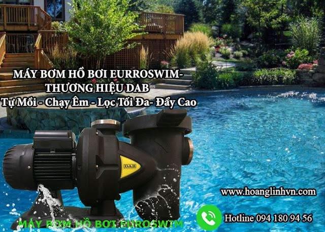 Máy bơm lọc nước hồ bơi hiện đại vận hành như thế nào ? Máy bơm hồ bơi Euroswim DAB