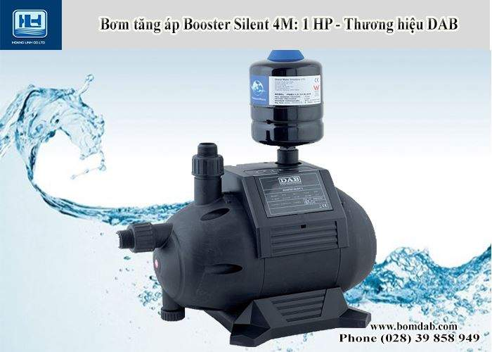 máy bơm tăng áp điện tử booster Silent công suất 1 HP